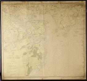 Framed Vintage Map of Portmouth Harbor