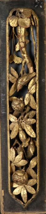 Chinese Gilt Nood Carving Panel