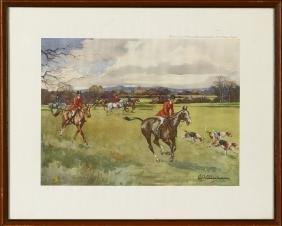 Vintage Horse Racing Print