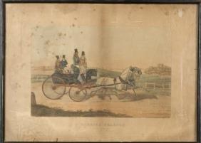 Vintage Print Of A Hunting Phaeton