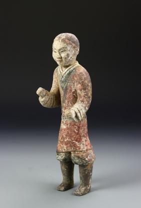 Chinese Color Pottery Figure