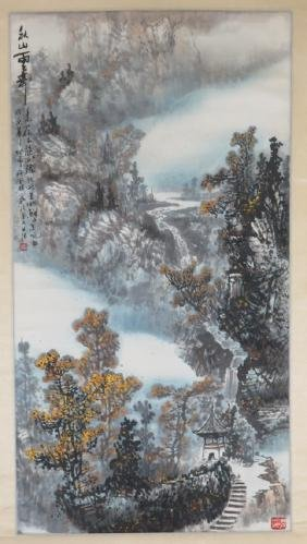 Hanging scroll by lui de wah