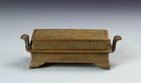 Chinese Bronze Square Censer