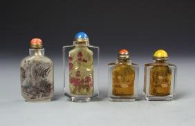 Four Chinese Snuff Bottle