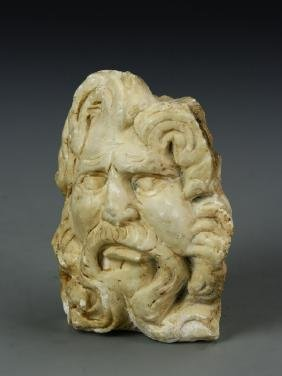 Antique Stone Mom Head