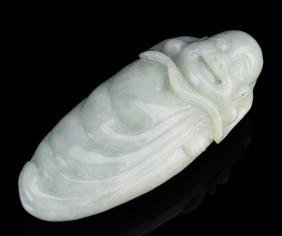 Chinese Carved Jadeite Figure