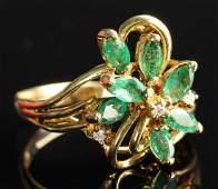 Chinese Golden Flower Ring