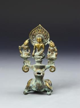 Chinese Bronze Gilt Buddha