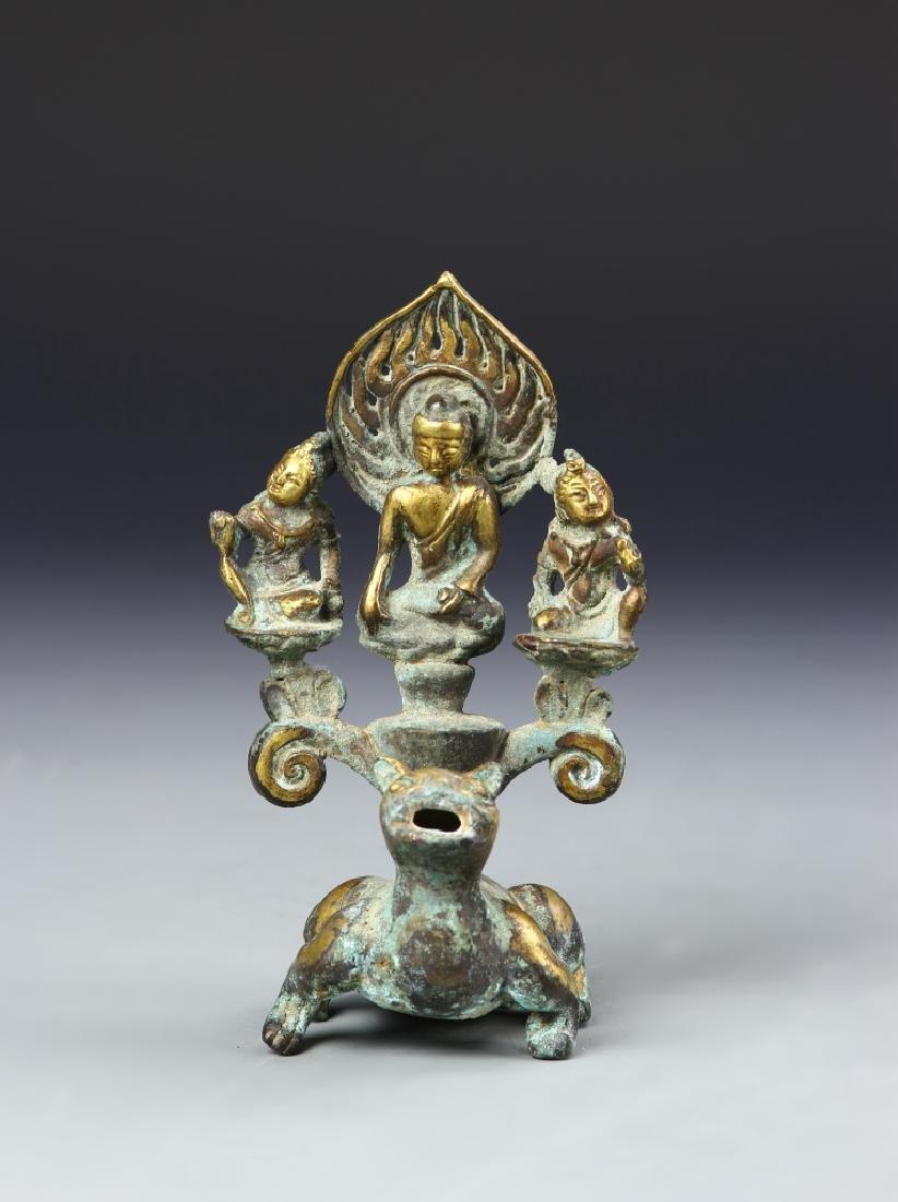 Chinese Bronze Gilt Buddha