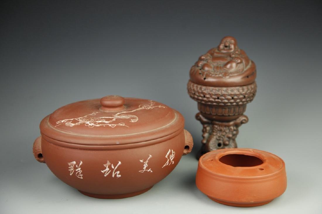 Three Chinese Yixing Items
