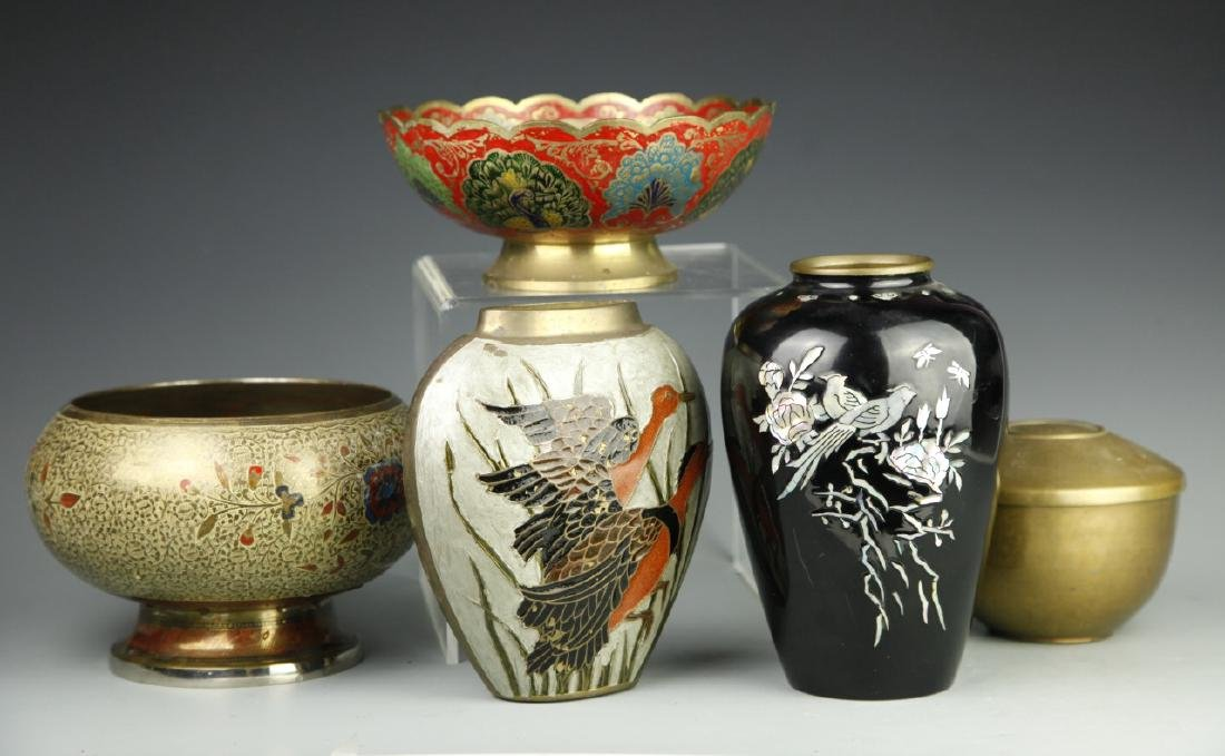 Five Chinese Metal Items