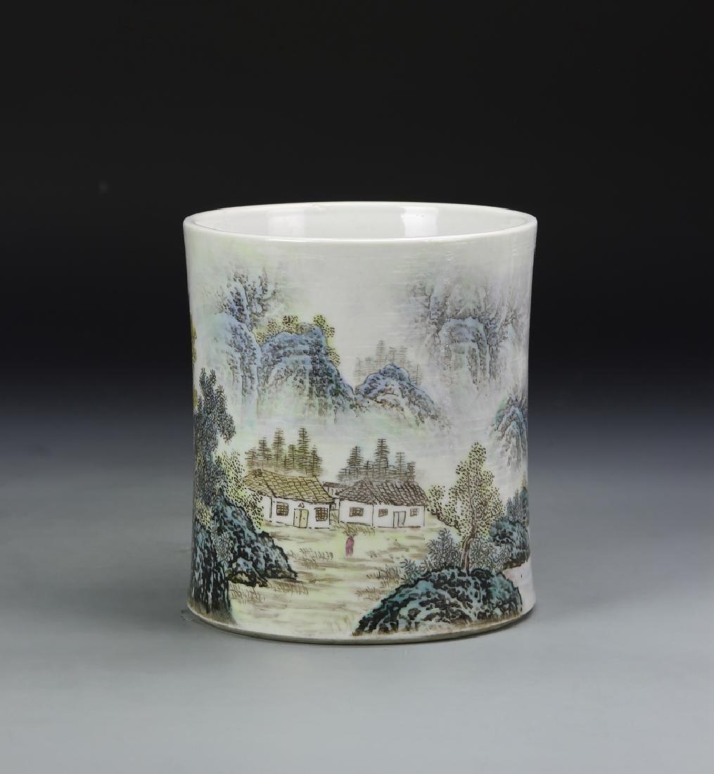 Chinese Famille Rose Brush Pot