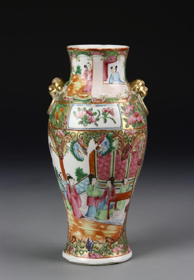 Chinese Rose Medallion Vase - 3
