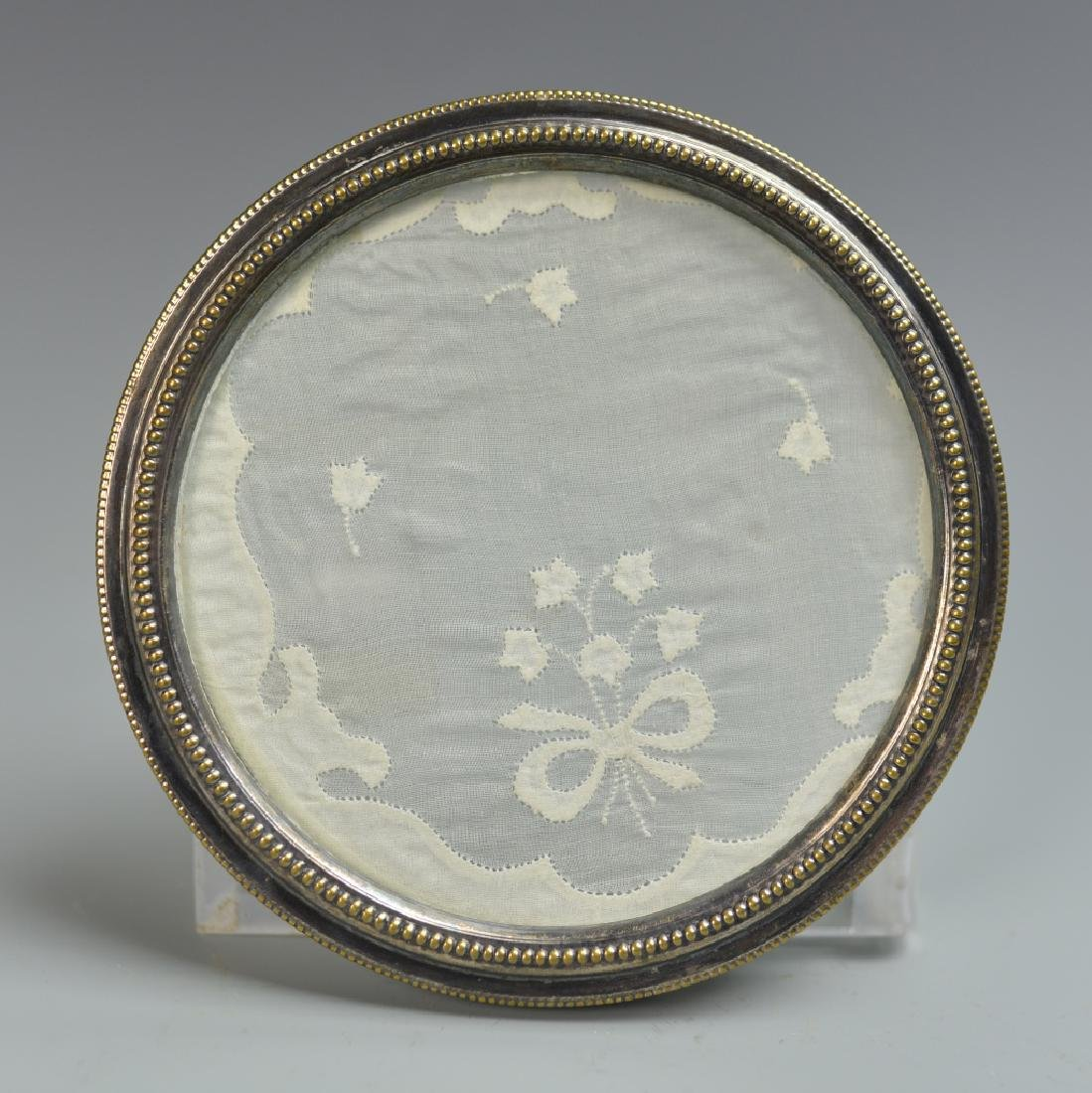 Chinese Silver Round Frame with Glass - 3
