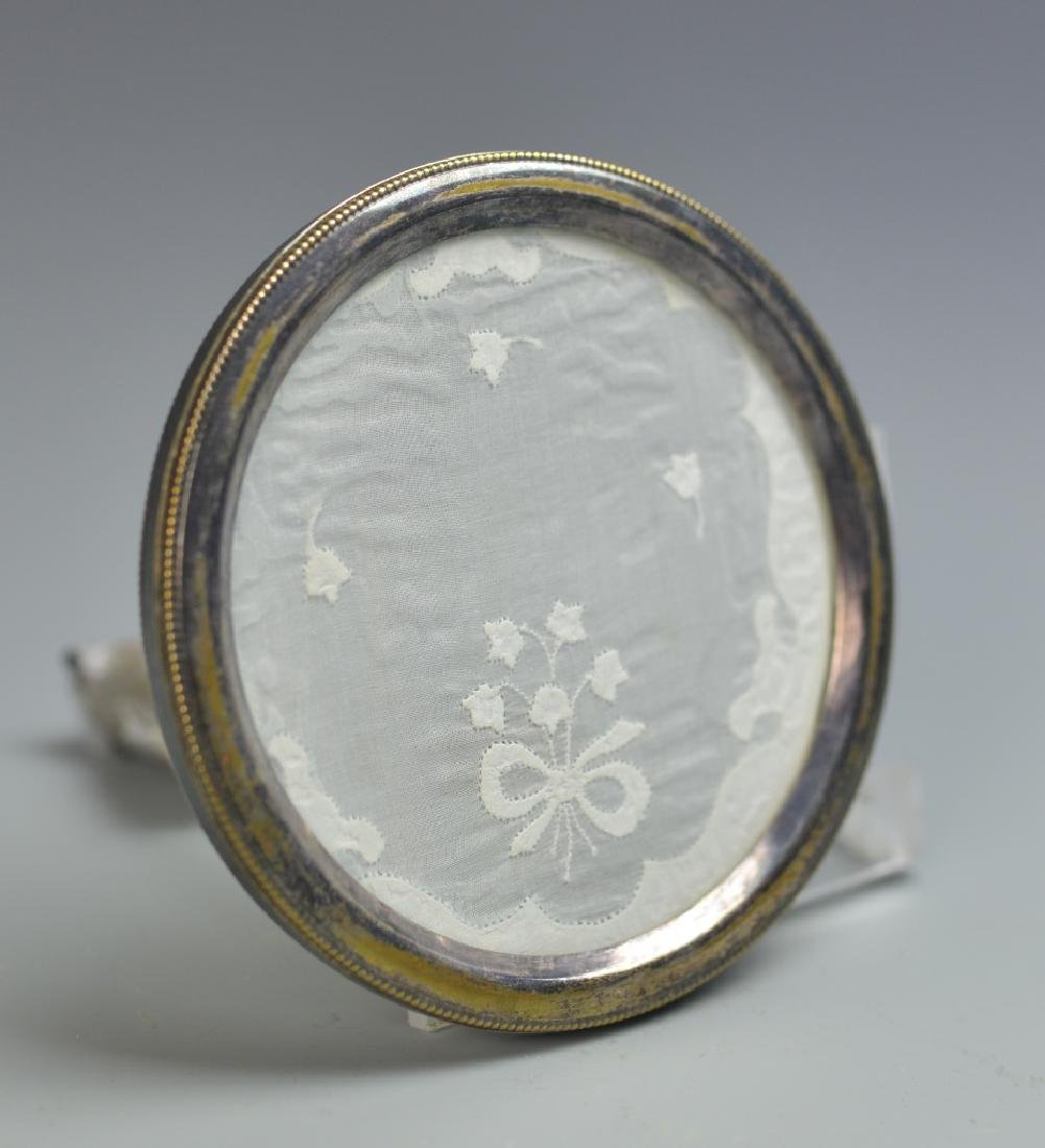 Chinese Silver Round Frame with Glass - 4