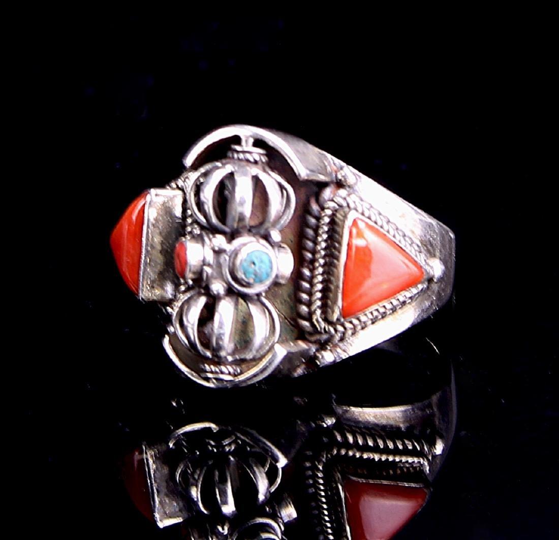 Chinese Tibetan Silver Ring