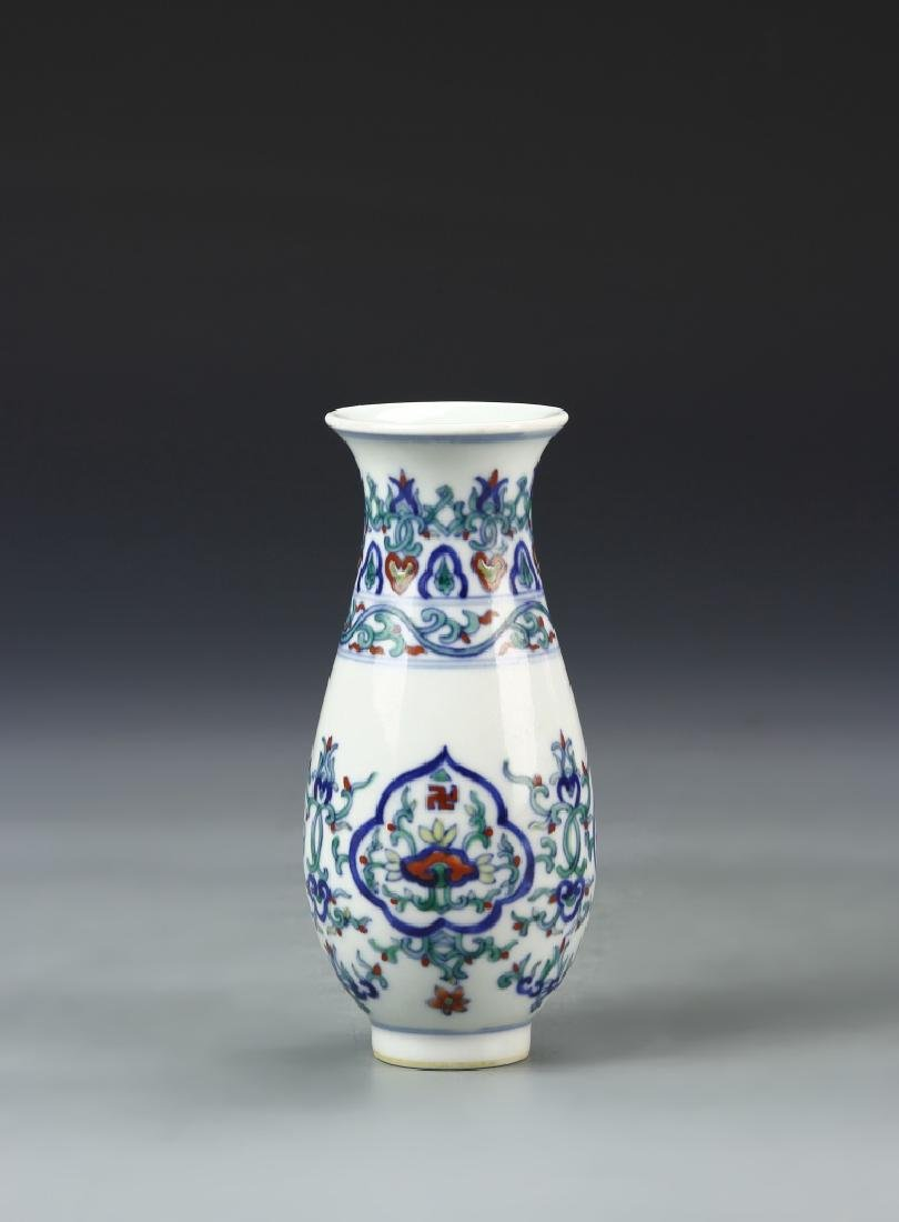 Pair of Chinese Doucai Vases - 10