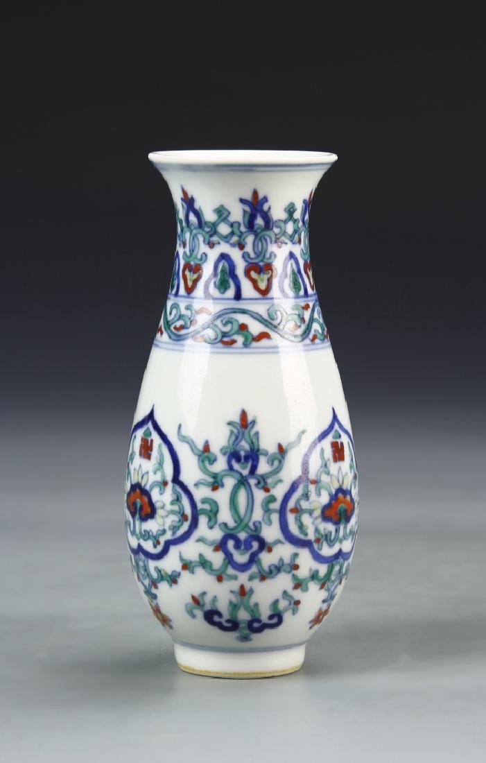 Pair of Chinese Doucai Vases - 2
