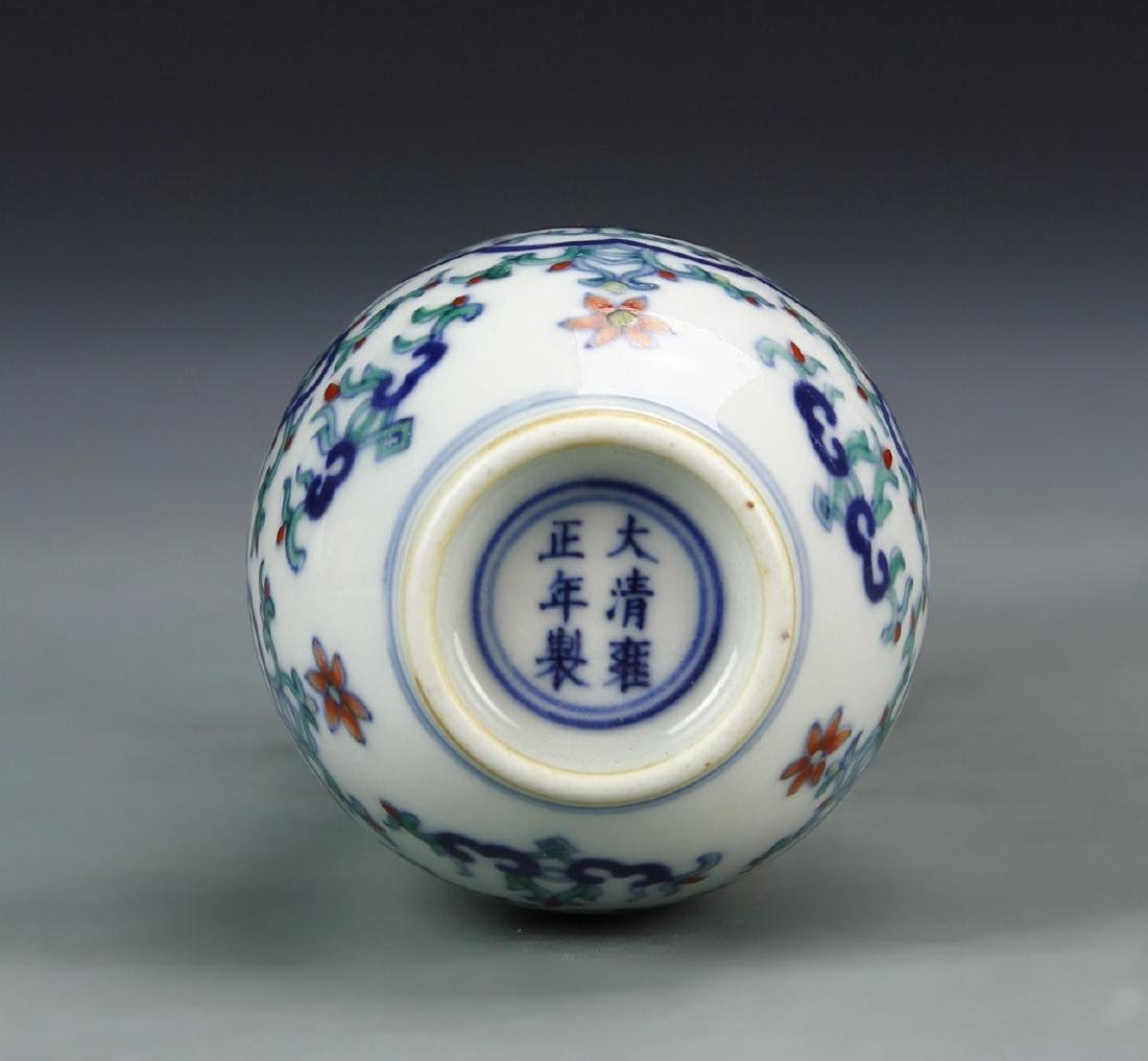 Pair of Chinese Doucai Vases - 4