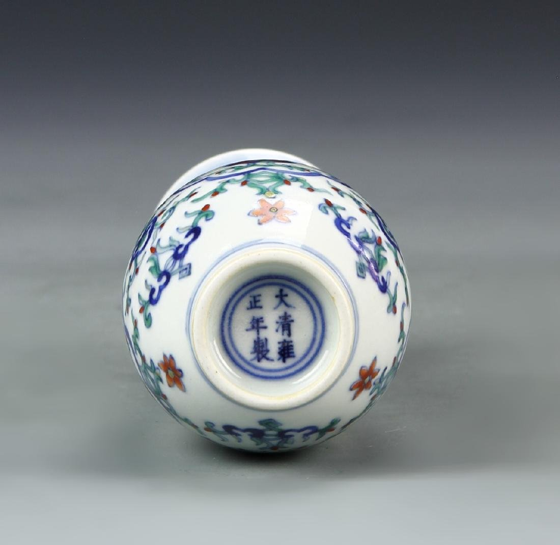 Pair of Chinese Doucai Vases - 8