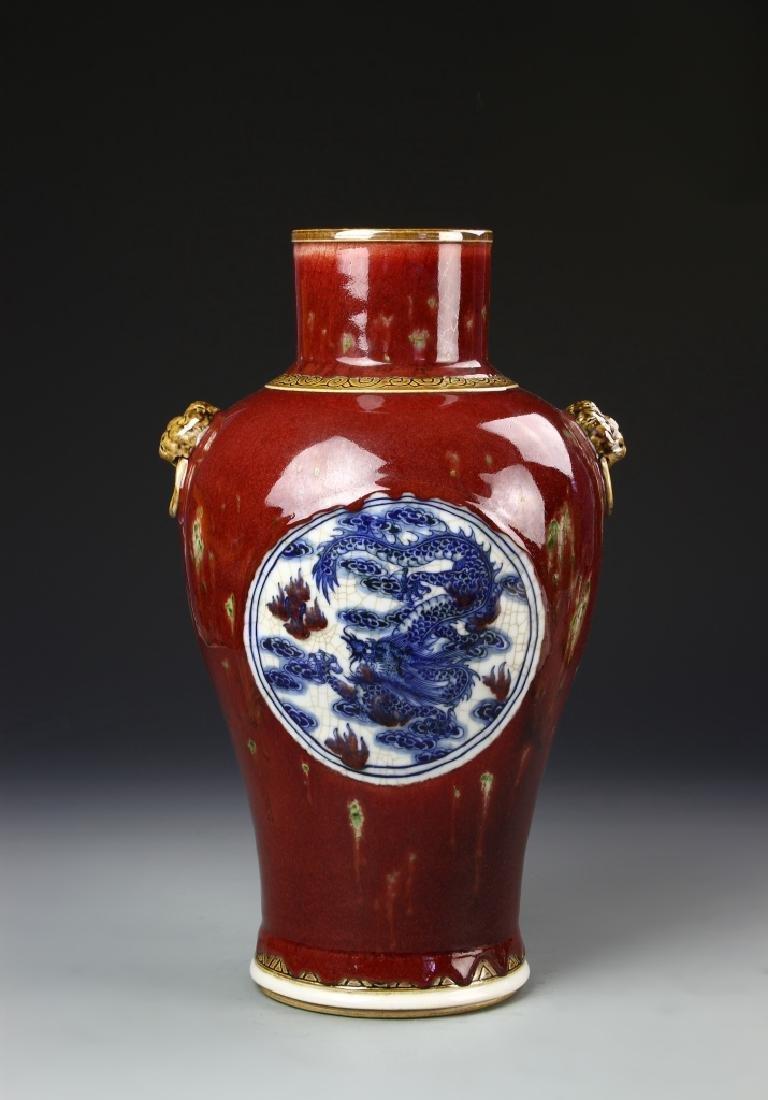 Chinese Oxblood Glazed Vase