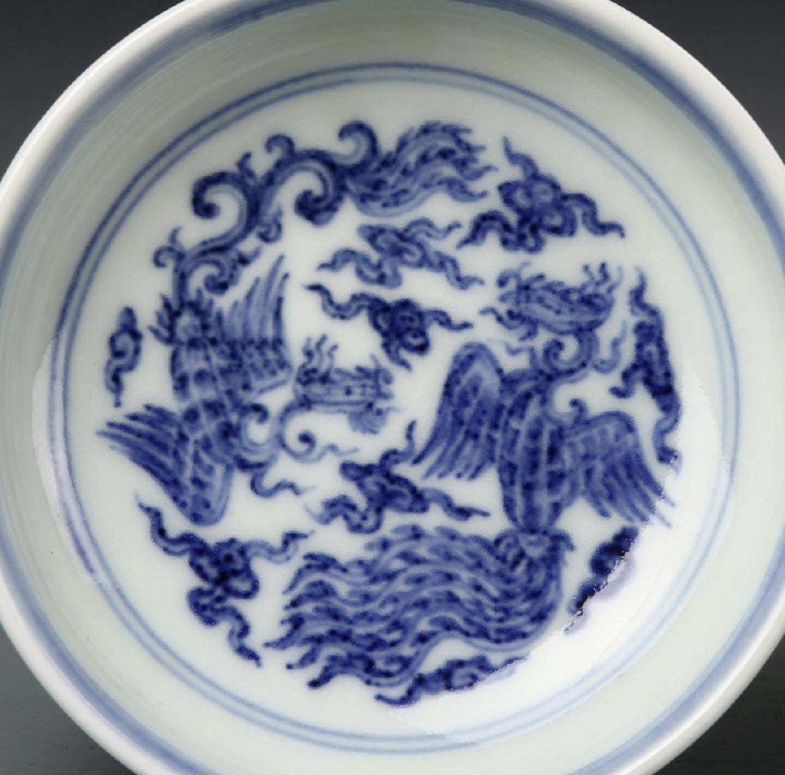 Pair of Chinese Blue and White Dishes - 2