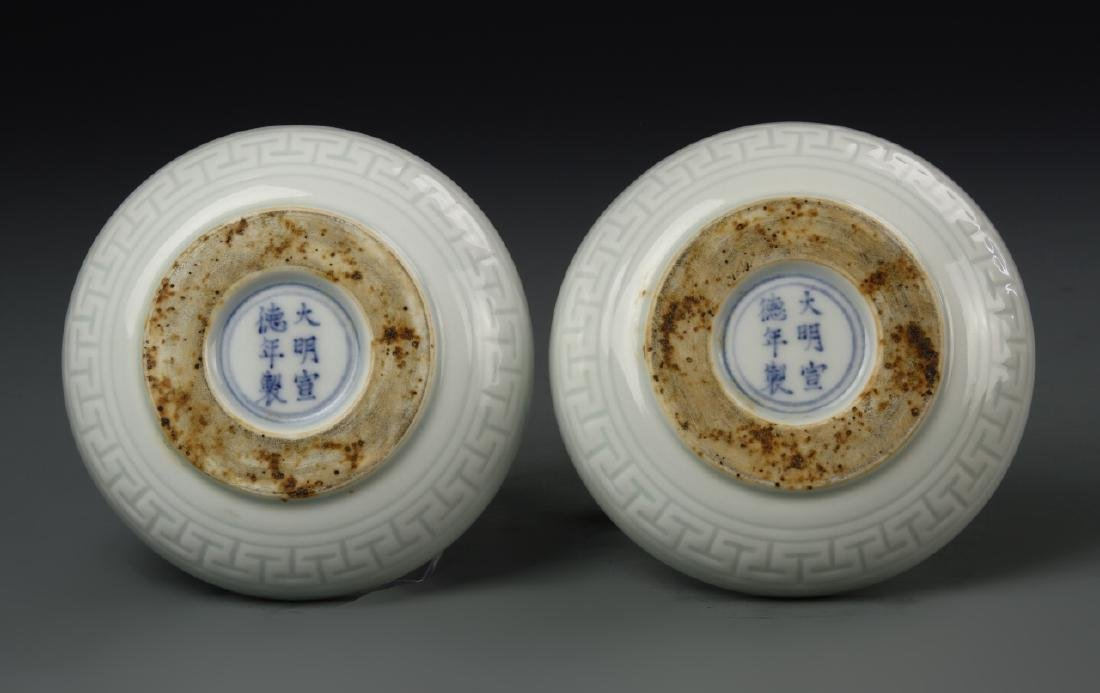 Pair of Chinese Blue and White Dishes - 3