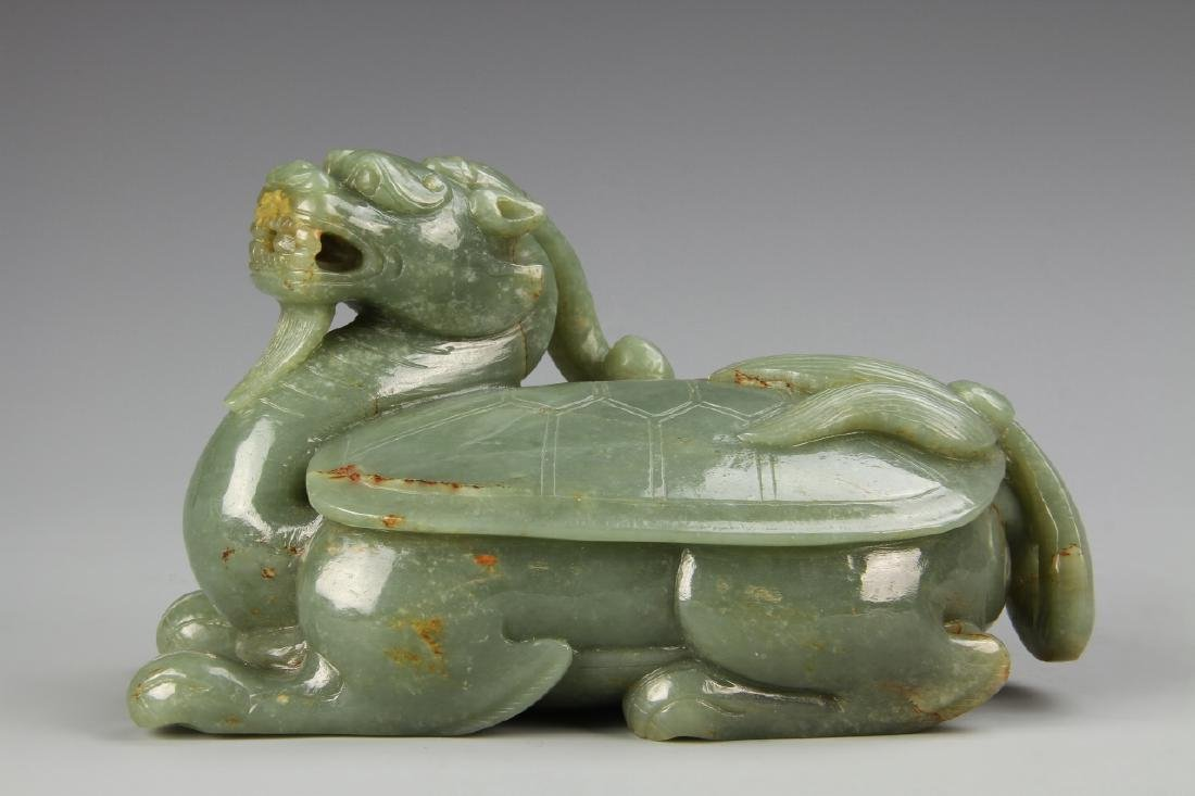 Chinese Antique Jade Dragon Turtle