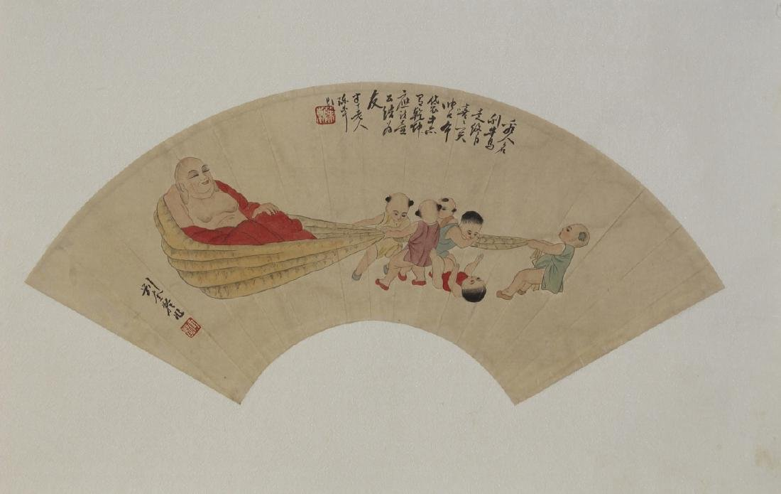 Chinese Fan Painting Attributed to Liu Rui Ling