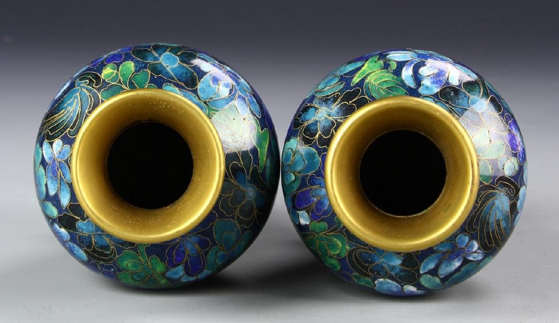 Chinese A Pair Of Cloisonne Vases - 3
