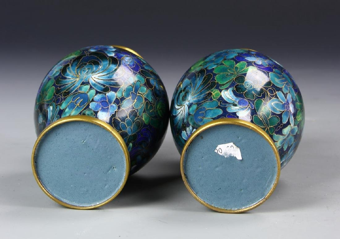Chinese A Pair Of Cloisonne Vases - 4