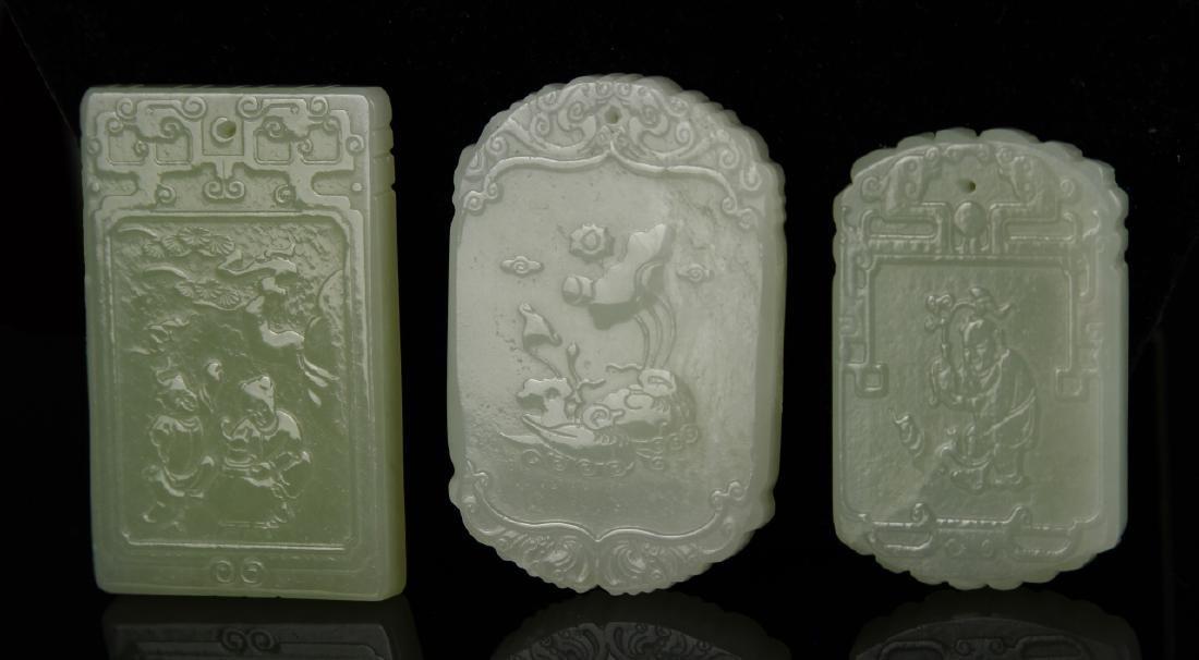Chinese 3 Jade Pendant