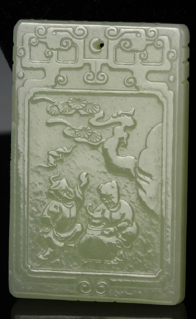 Chinese 3 Jade Pendant - 5