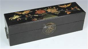 Chinese Scholar Box with Inlays