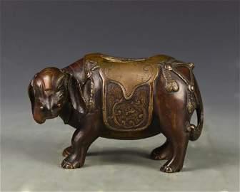 Chinese Bronze Elephant