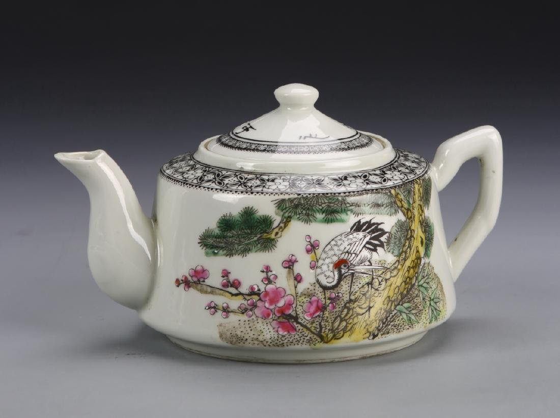 Chinese Famille Rose Teapot - 3