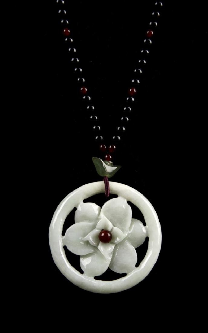 Chinese Agate Necklace and Pendant