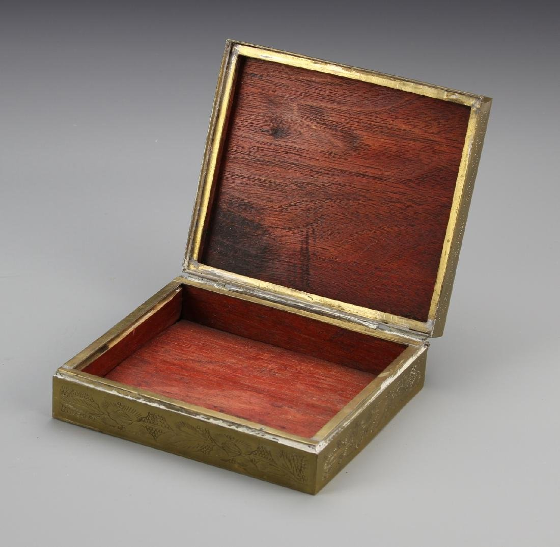 Chinese Enamel and Brass Ink Box - 2