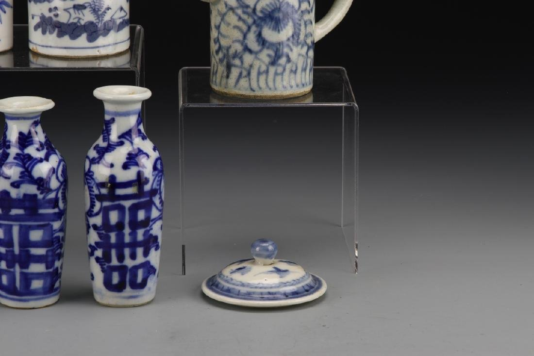 Seven Chinese Blue and White Porcelain Items - 3