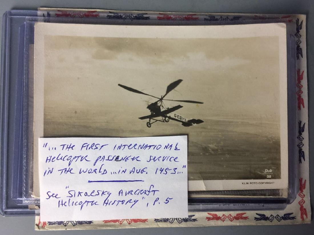 International Helicopter Passenger Postcard