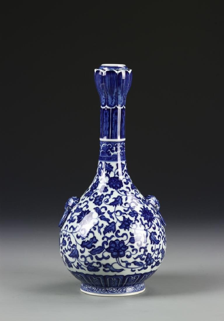 Chinese Blue and White Garlic Head vase