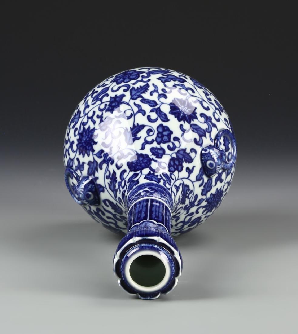 Chinese Blue and White Garlic Head vase - 5