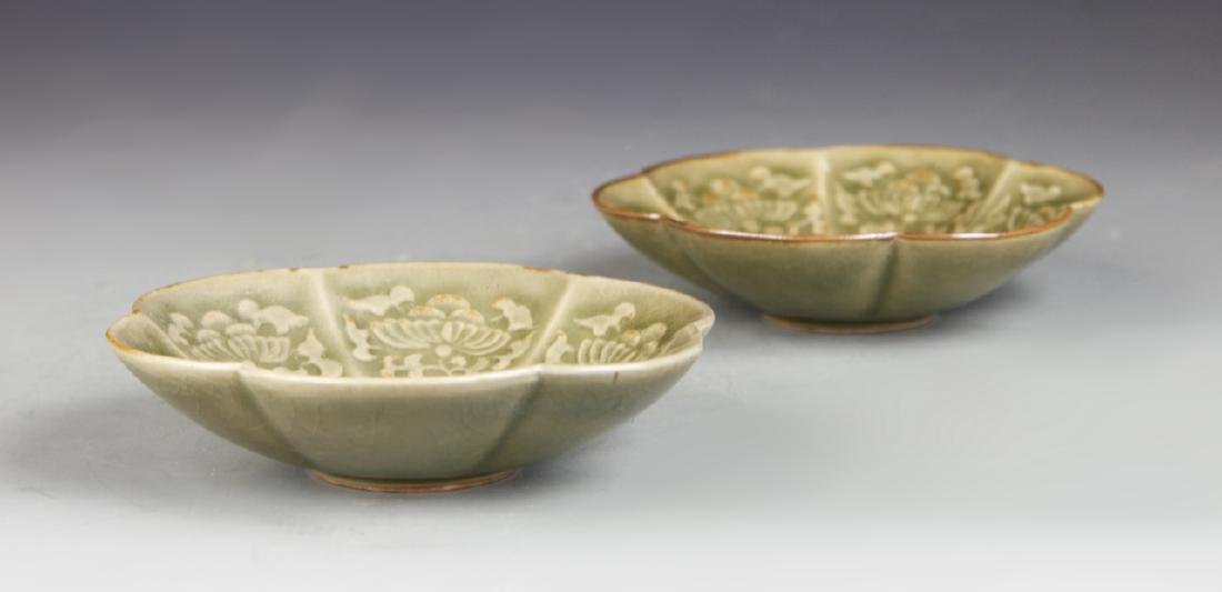 Pair of Chinese Yue Yao Plates