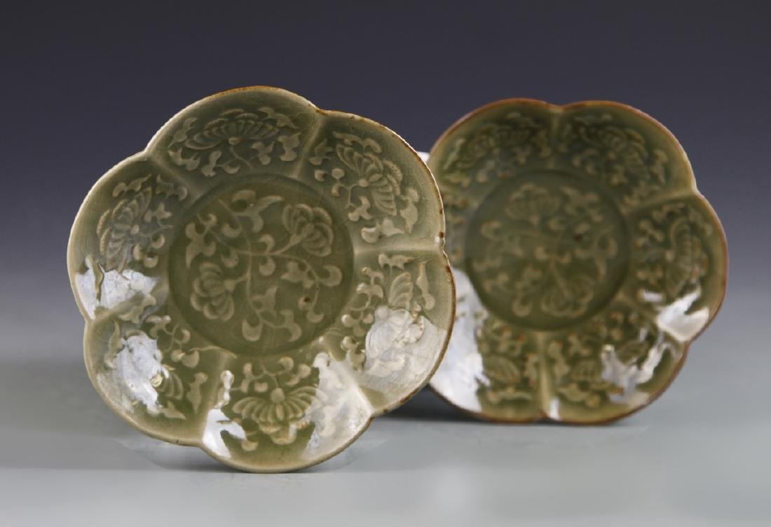 Pair of Chinese Yue Yao Plates - 3