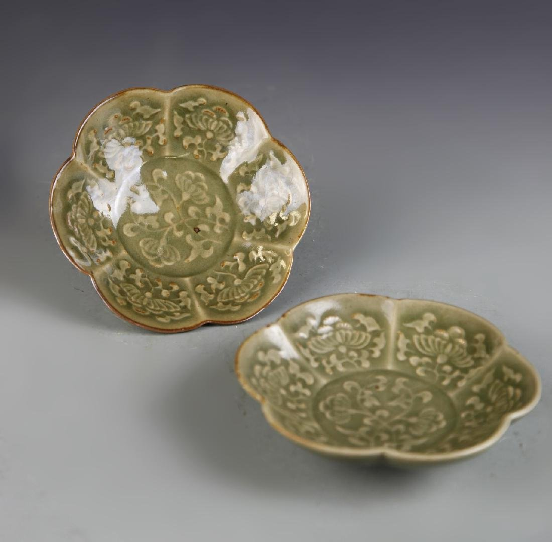 Pair of Chinese Yue Yao Plates - 5