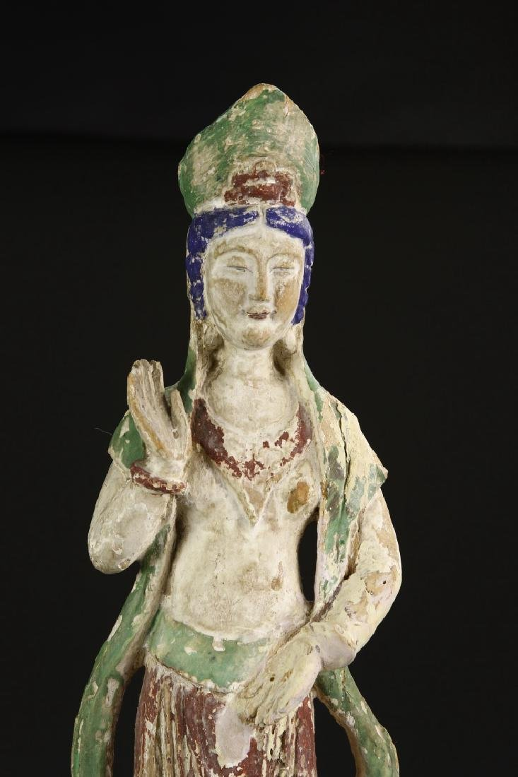 Chinese Painted Wood Guanyin - 2