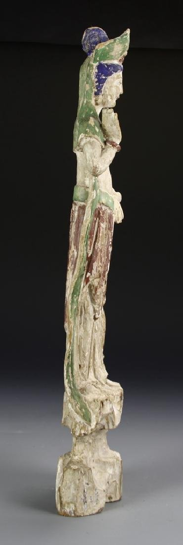 Chinese Painted Wood Guanyin - 3