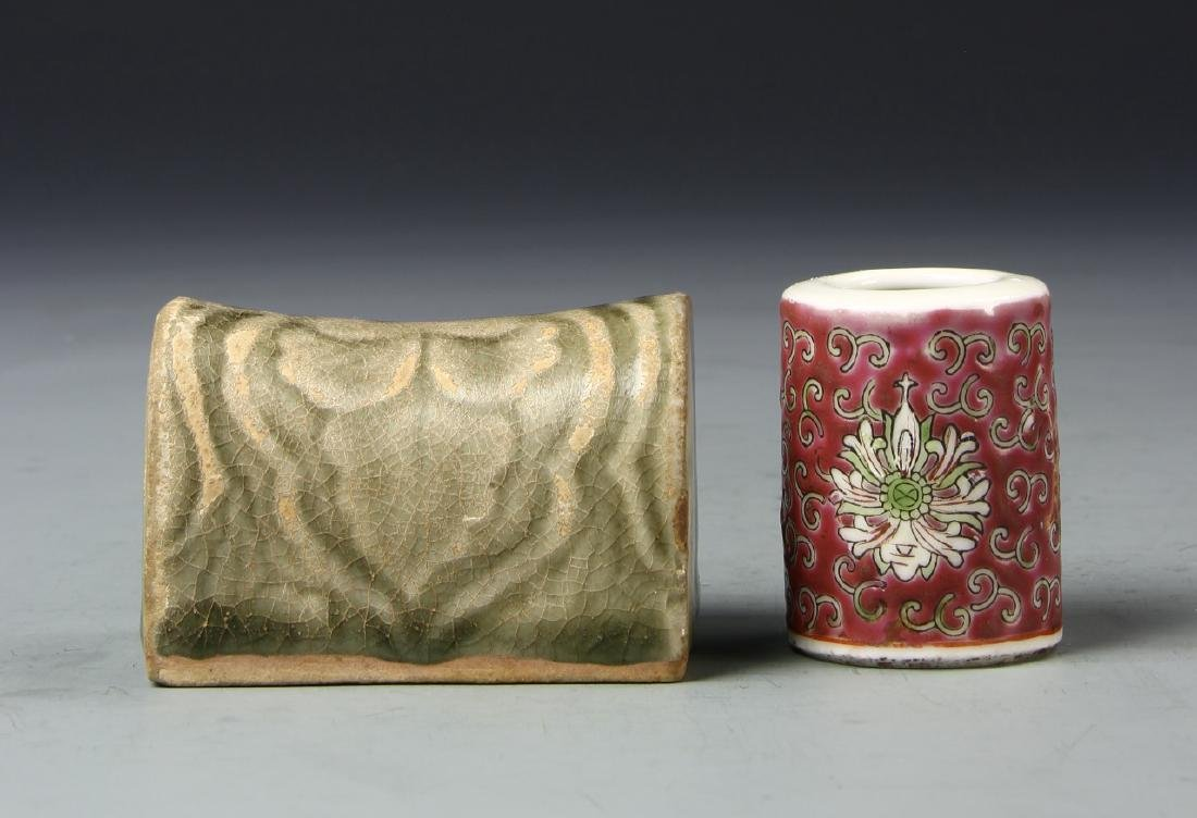 Two Chinese Scholar Porcelain Items