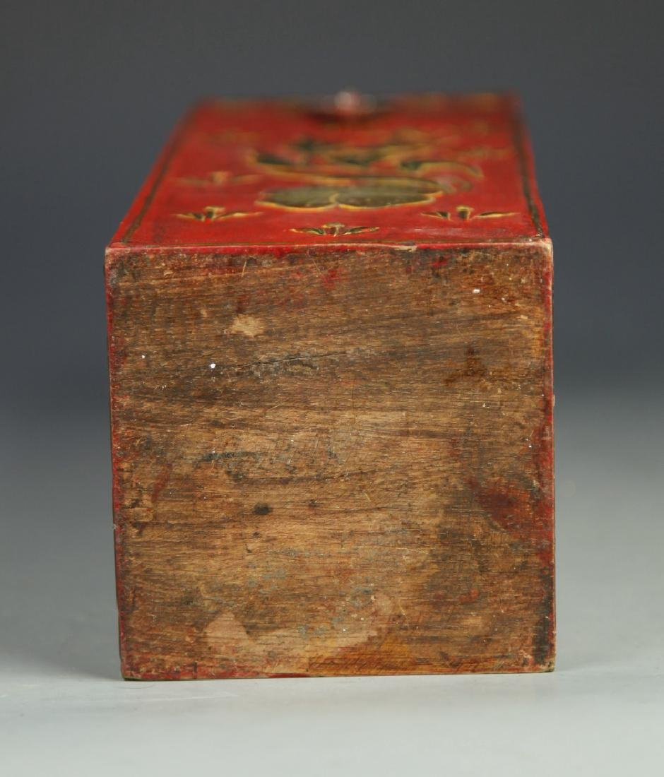 Chinese Lacquer Square Tall Box - 5