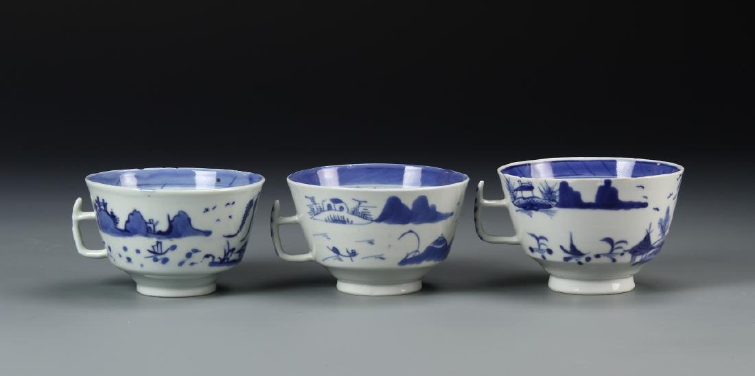 Three Chinese Tea Cups